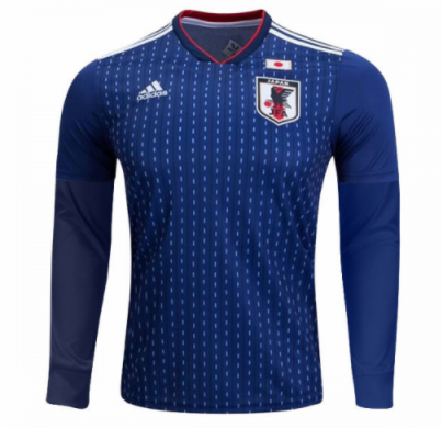 Japan 2018 World Cup Home Long Sleeved Shirt Soccer Jersey