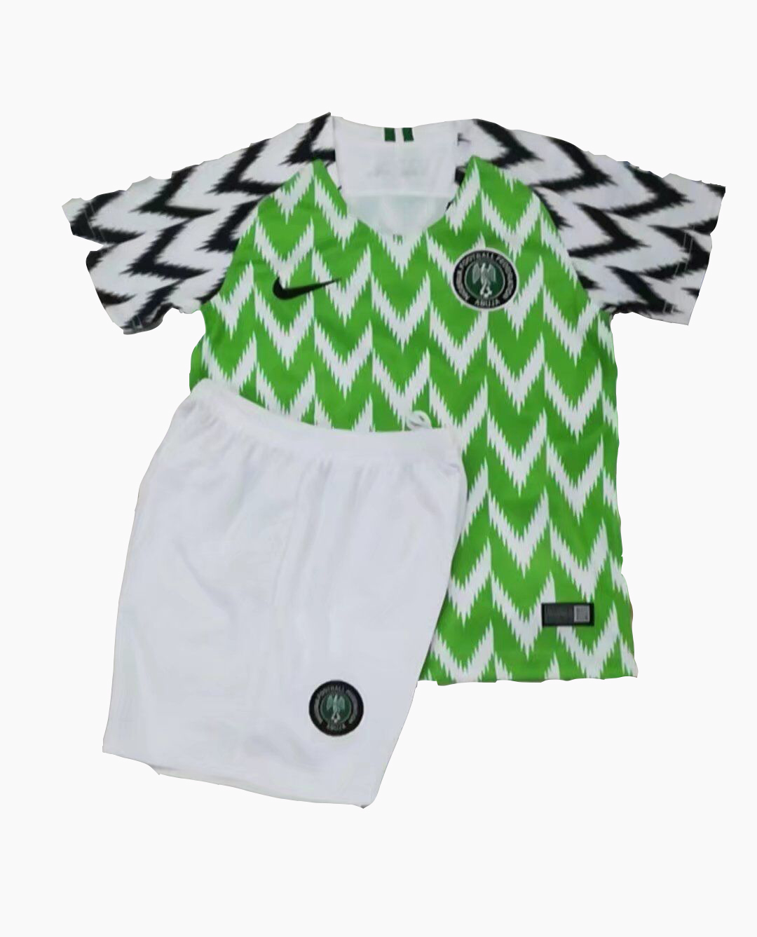 Kids Nigeria Home Soccer Jersey Children Kits 2018 World Cup (Shirt + Shorts)