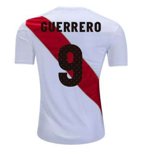 Paolo Guerrero Peru Soccer Jerseys 2018 FIFA World Cup Home Football Shirts