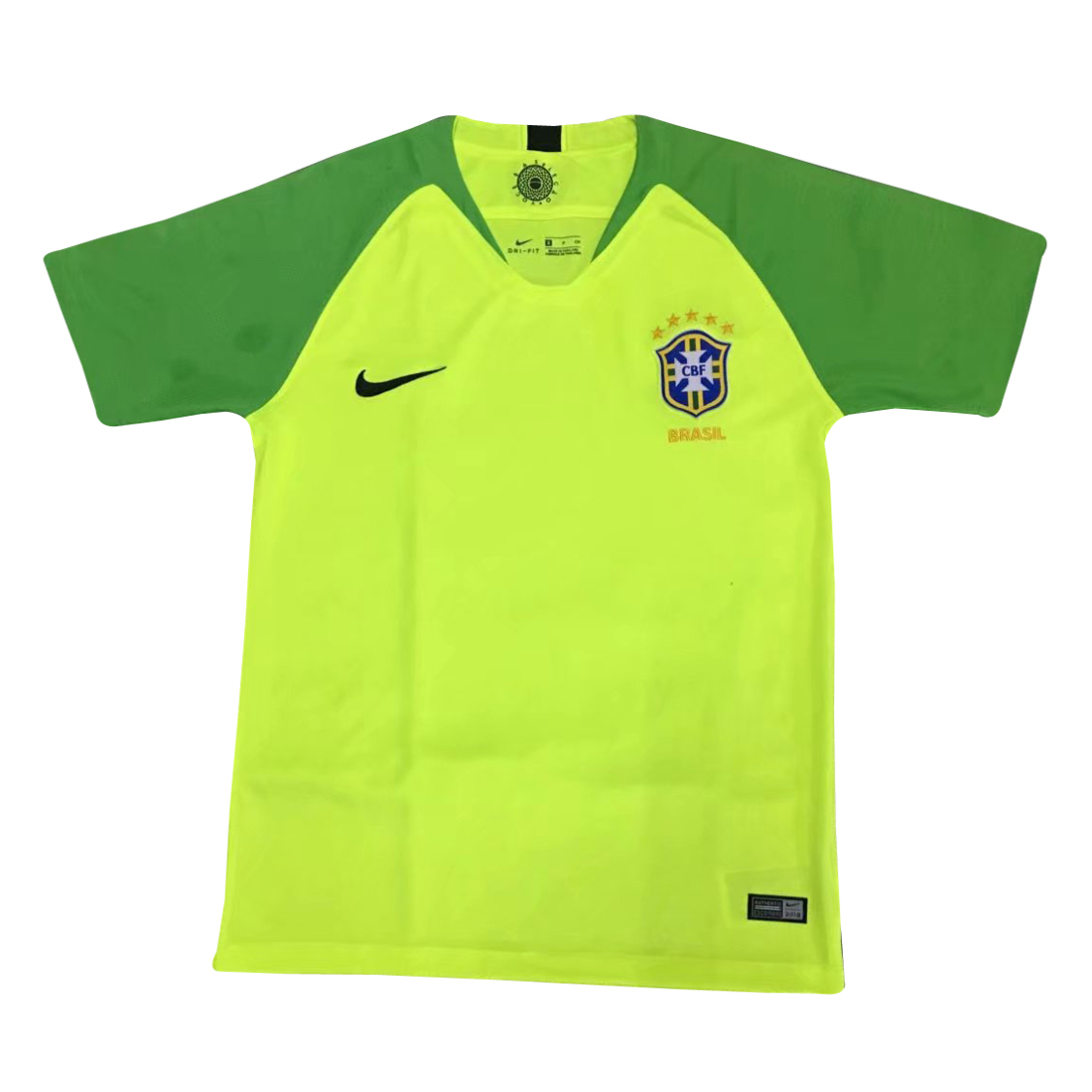 Brazil Goalkeeper Soccer Jerseys 2018 World Cup Green Football Shirts