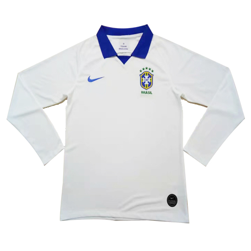 Brazil 2019 Away White soccer Jerseys Shirt(Player Version)
