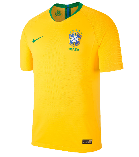 Brazil 2018 World Cup Home Shirt Soccer Jersey - Match