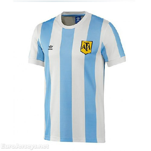 Argentina 1978 Home Retro Cheap Soccer Jerseys