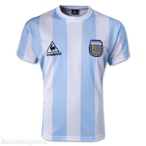 Argentina 1986 Home Retro Cheap Soccer Jerseys