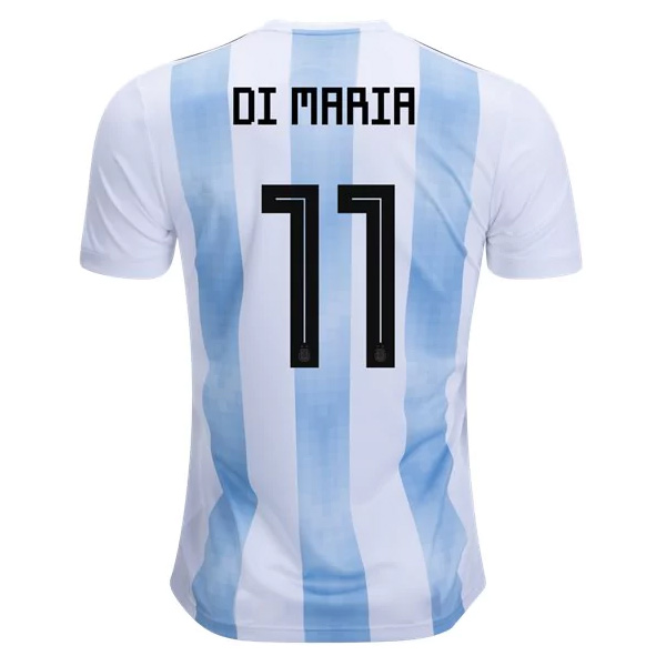 Argentina 2018 World Cup Home Angel Di Maria #11 Shirt Soccer Jersey