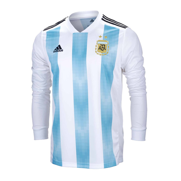 Argentina 2018 World Cup Home Long Sleeved Shirt Soccer Jersey