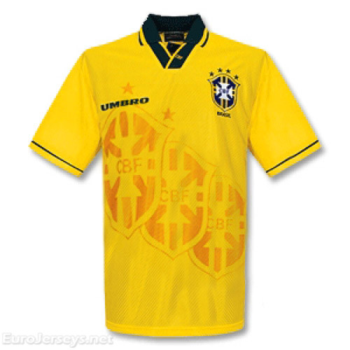 Brazil 1993/1994 Home Retro Cheap Soccer Jerseys