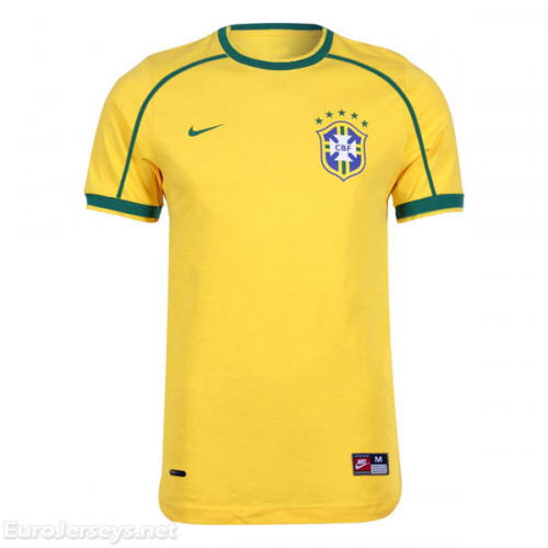 Brazil 1998/2000 Home Retro Cheap Soccer Jerseys
