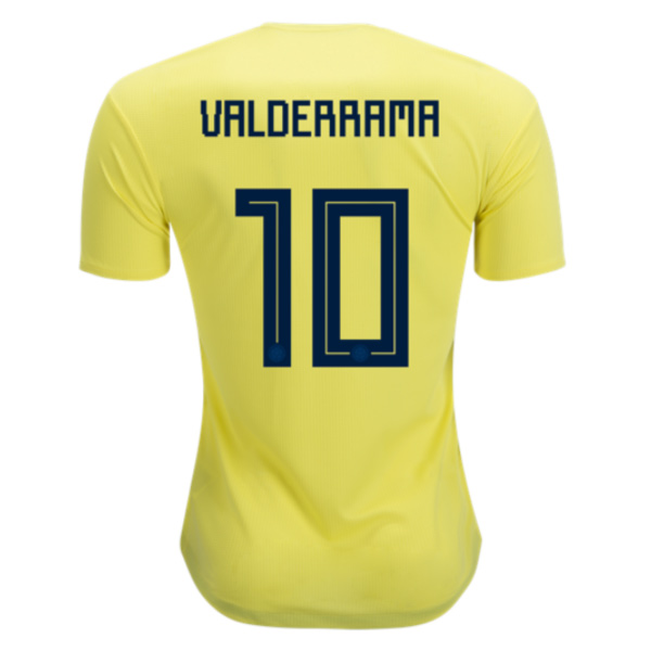 Colombia 2018 World Cup Home Carlos Valderrama #10 Shirt Soccer Jersey