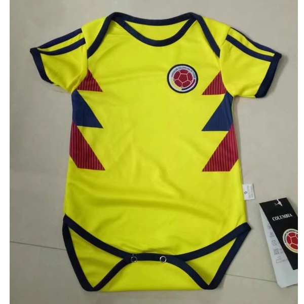 Baby Kids Colombia 2018 World Cup Home Soccer Jersey Kit