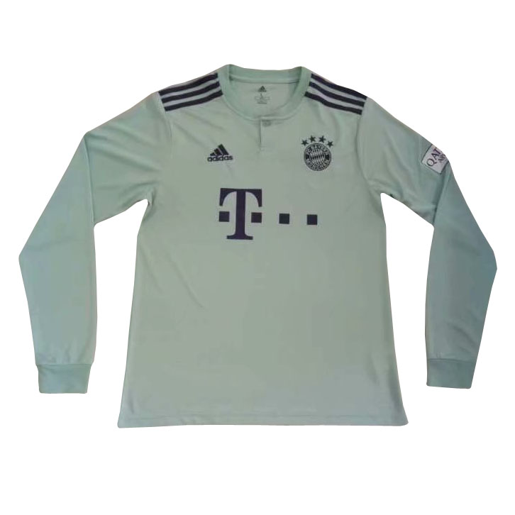 Bayern Munich Long Sleeve Soccer Jerseys 2018-19 Away Football Shirts
