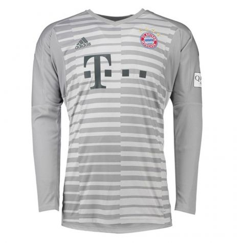 Bayern Munich Long Sleeve Goalkeeper Soccer Jerseys 2018-19 Grey Football Shirts