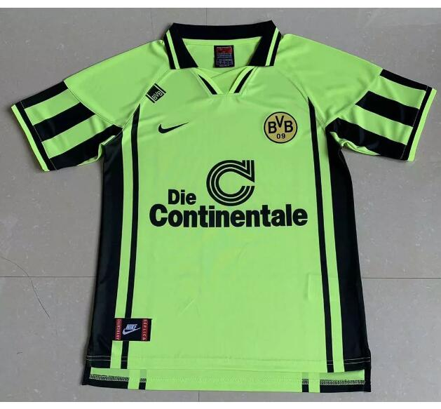 Borussia Dortmund Retro Soccer Jerseys 1996 Away Football Shirts