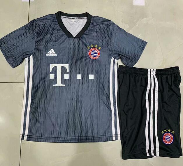 Kids Bayern Munich Soccer Jerseys 2018-19 Third Football Kits (Shirt + Shorts)