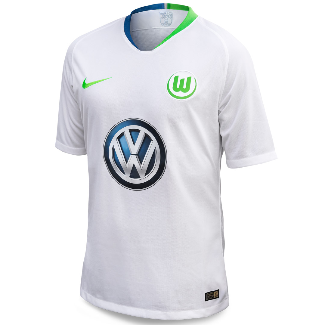 VfL Wolfsburg Soccer Jerseys 2018-19 Away Football Shirts