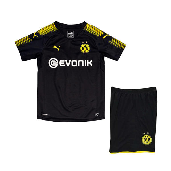 Borussia Dortmund 2017-18 Away Kids Kit Children Shirt And Shorts