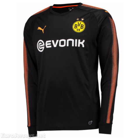 Borussia Dortmund 2017-18 Home Long Sleeved Goalkeeper Shirt