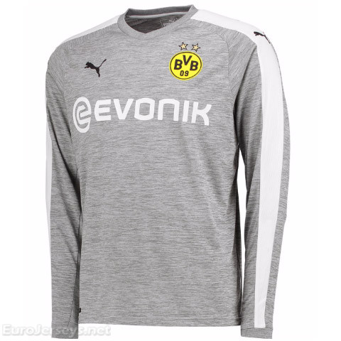 Borussia Dortmund 2017-18 Third Long Sleeved Shirt Soccer Jersey