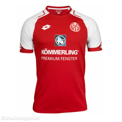 FSV Mainz 05 Home Best Wholesale Football Kit 2017-18 Cheap Soccer Jerseys