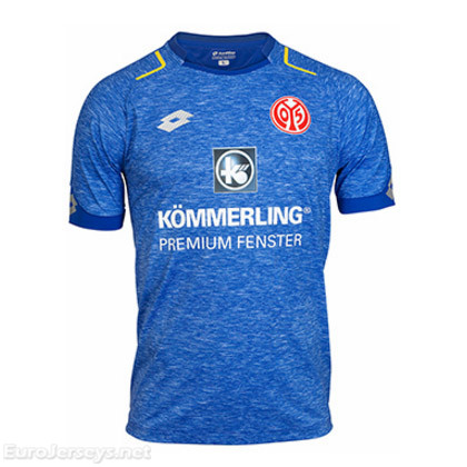 FSV Mainz 05 3rd Best Wholesale Football Kit 2017-18 Cheap Soccer Jerseys