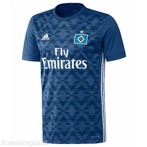 HSV Hamburg 2017-18 Away Shirt Soccer Jersey