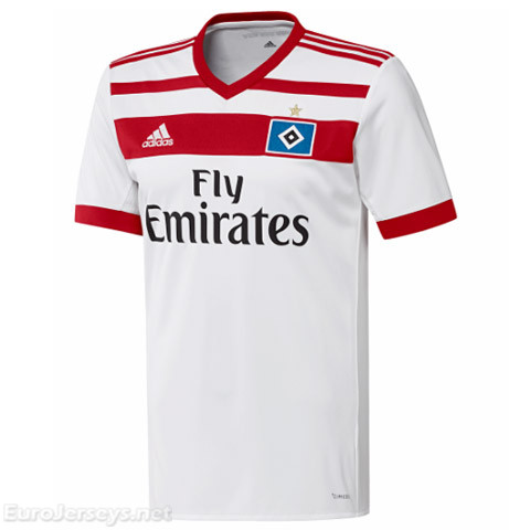 HSV Hamburg 2017-18 Home Shirt Soccer Jersey