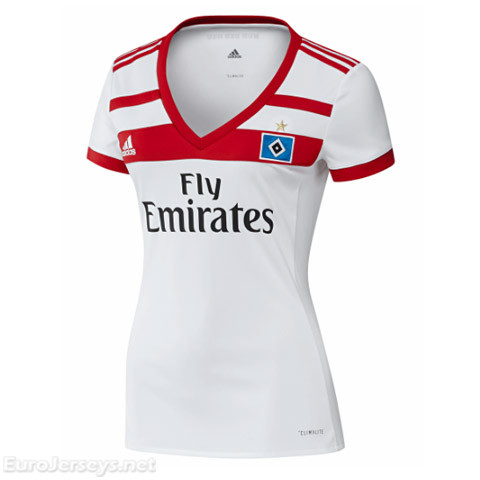 HSV Hamburg 2017-18 Home Women's Shirt Soccer Jersey