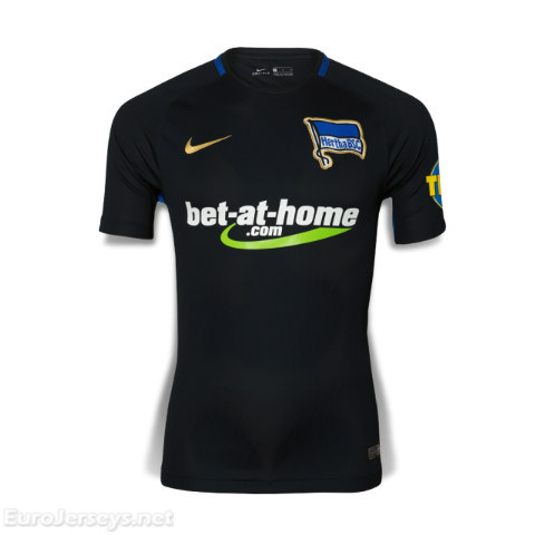 Hertha BSC 2017-18 Away Shirt Soccer Jersey