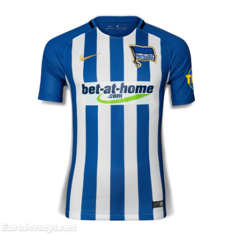Hertha BSC 2017-18 Home Shirt Soccer Jersey