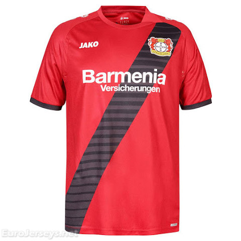 Bayer 04 Leverkusen 2017-18 Away Shirt Soccer Jersey