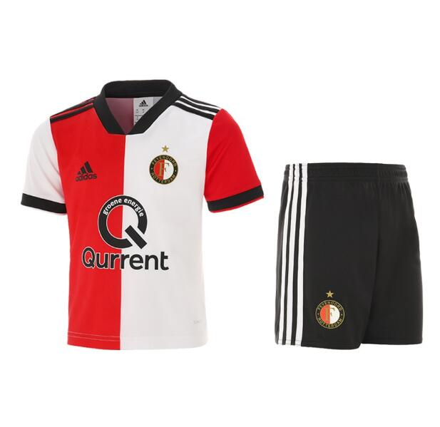 Kids Feyenoord Rotterdam Soccer Jerseys 2018-19 Home Football Kits (Shirt + Shorts)