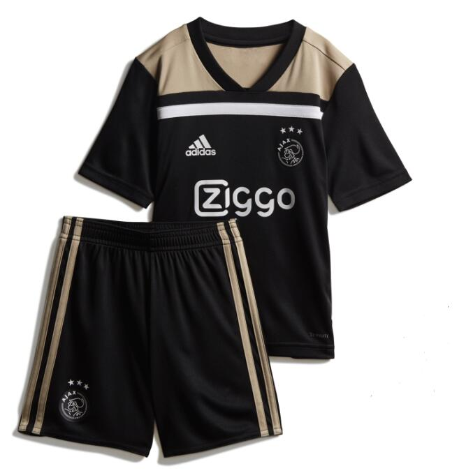 Kids Ajax Soccer Jerseys 2018-19 Away Football Kits (Shirt + Shorts)