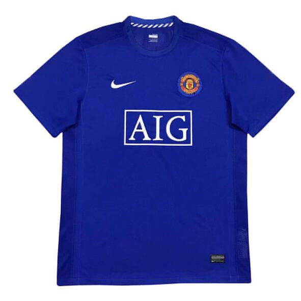 Manchester United Retro Soccer Jerseys 07-08 Away Football Shirts