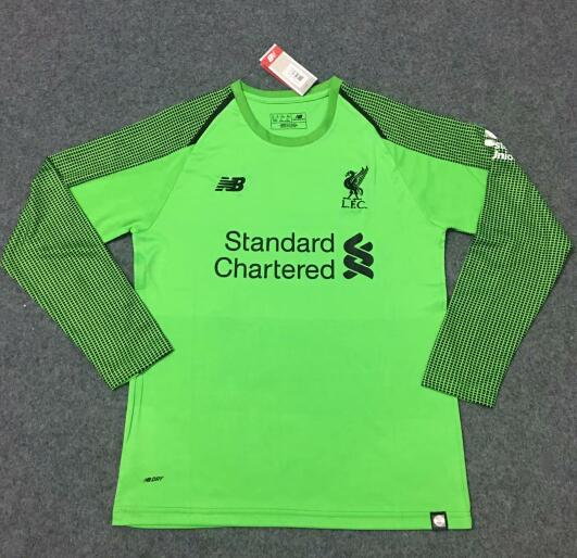Liverpool Goalkeeper LS Soccer Jerseys 2018-19 Green Football Shirts