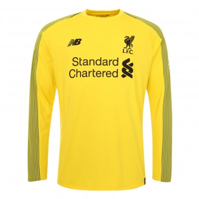 Liverpool Goalkeeper Soccer Jerseys 2018-19 Yellow LS Football Shirts