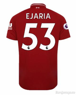 EJARIA Liverpool Soccer Jerseys 2018-19 Home Football Shirts