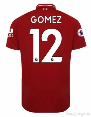 GOMEZ Liverpool Soccer Jerseys 2018-19 Home Football Shirts