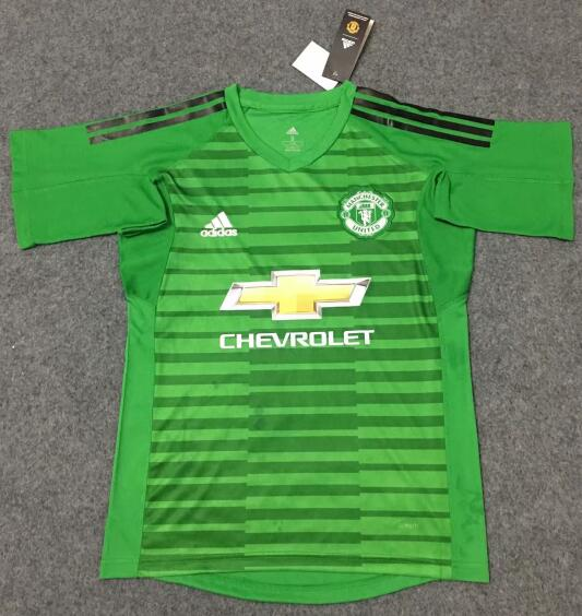 Manchester United Goalkeeper Football Shirts 2018-19 Green Soccer Jerseys