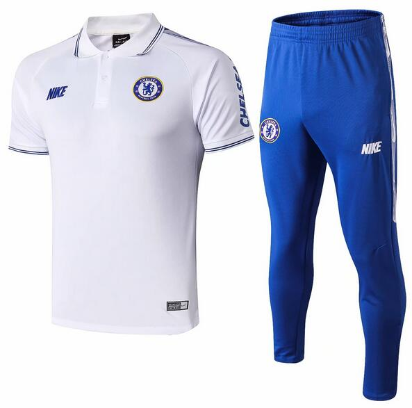 Chelsea Polo Suits 2019-20 White