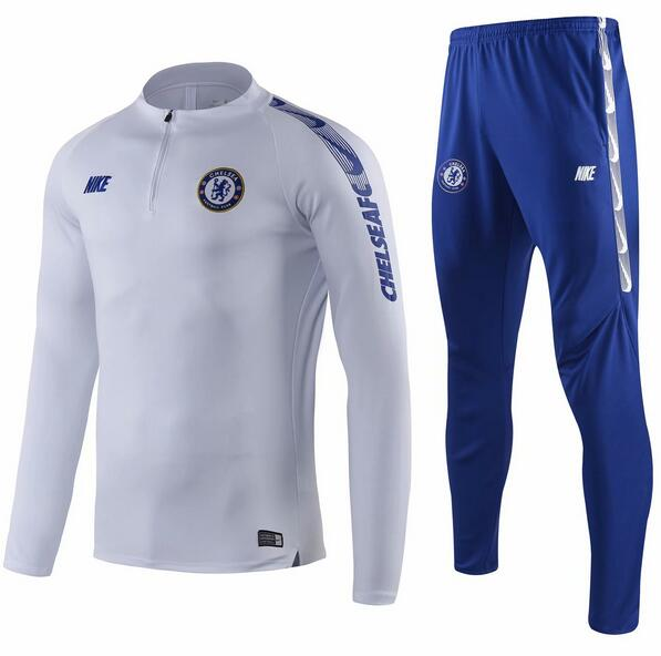 Chelsea Tracksuit 2019-20 White Wear Top + Pants
