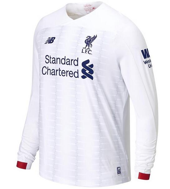 Liverpool Long Sleeve Soccer Jerseys 2019-20 Away Football Shirts