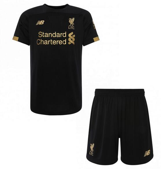 Liverpool Kids Soccer Jerseys 2019-20 Goalkeeper Black Football Kits