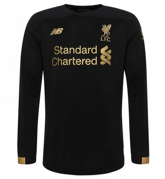 Liverpool Long Sleeve Soccer Jerseys 2019-20 Goalkeeper Black Football Shirts