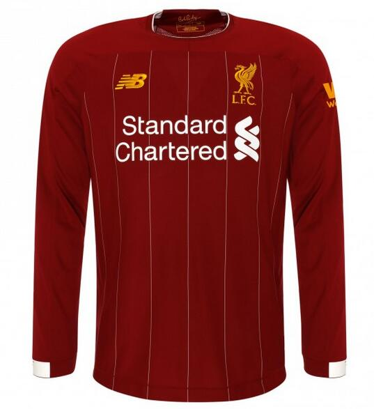 Liverpool Long Sleeve Soccer Jerseys 2019-20 Home Football Shirts