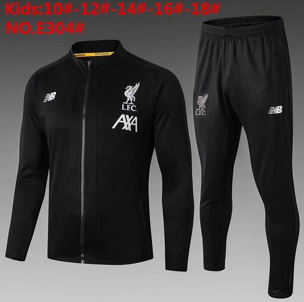 Liverpool Kids Tracksuit 2019-20 Black Jacket Top + Pants