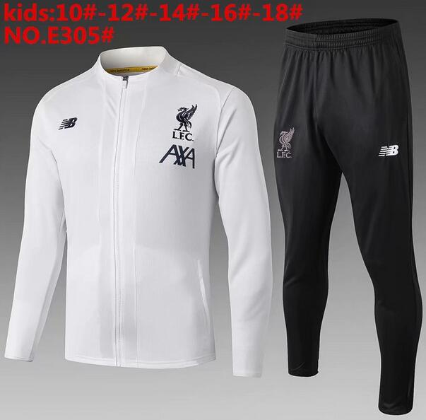 Liverpool Kids Tracksuit 2019-20 White Jacket Top + Pants