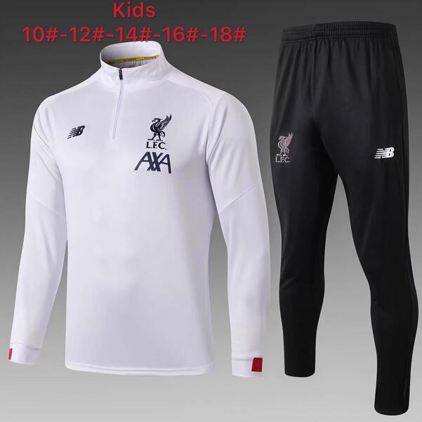 Liverpool Kids Tracksuit 2019-20 White Sweat Top + Pants