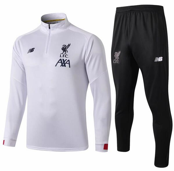 Liverpool Tracksuit 2019-20 White Sweat Top + Pants