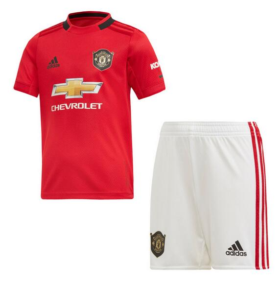 Manchester United Kids Soccer Jerseys 2019-20 Home Football Kits