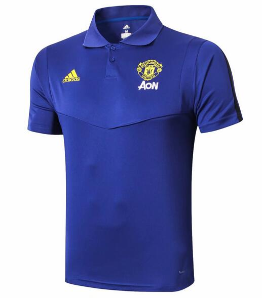 Manchester United Polo Jersey Shirts 2019-20 Blue